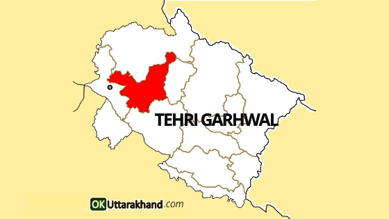 tehri garhwal map